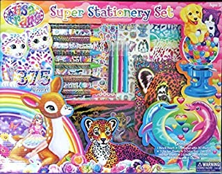 Lisa Frank Super Stationery Set 2015 - Over 375 pieces Stickers Markers by Lisa Frank