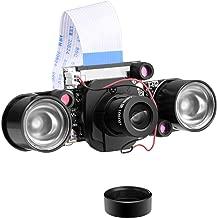 Longruner for Raspberry Pi 4 Camera Cámara Module de automático de corte por infrarrojos Visión diurna/nocturna de video Foco ajustable 5MP OV5647 1080p para Raspberry Pi B / B + / A + /4/3/2/1 LC26