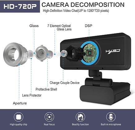 Rabusion HXSJ S90 - Webcam HD 720P con Rotazione di 360 Gradi per PC, Registrazione di chiamate, con Microfono a riduzione del Rumore per PC - Trova i prezzi più bassi