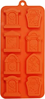 Halloween Tombstone 8 Cavity Silicone Mold Baking Chocolate Candy Making Ice Cube Molds