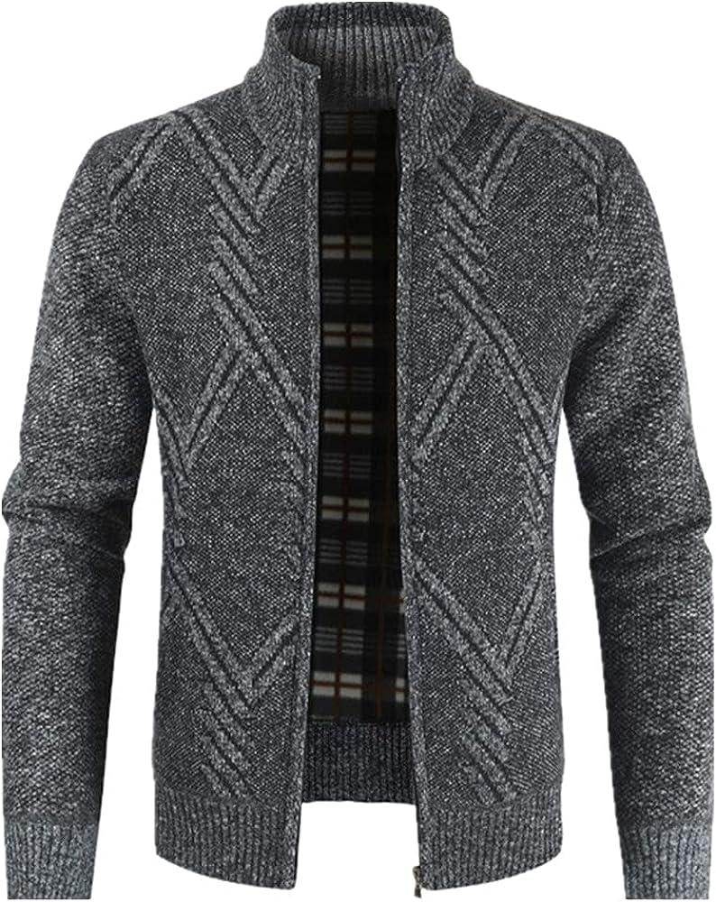 NP Autumn Winter Knitwear Men's Thick Coat Zipper Youth Street sweatwear Casual