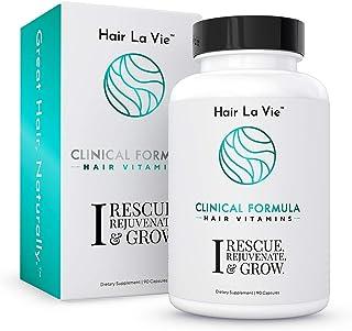 Sponsored Ad - Hair La Vie Clinical Formula Hair Vitamins with Biotin and Saw Palmetto - Thicker Healthier Hair Growth