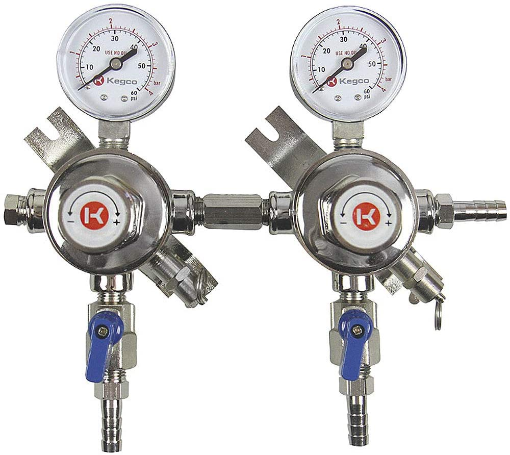 Free Shipping New Kegco 3PLH-54S-2 Secondary Regulator Two Product Cheap Chrome