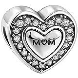 SOUFEEL Charm Beads for Bracelets Sterling Silver S925 Heart for Bracelet Necklace Jewelry