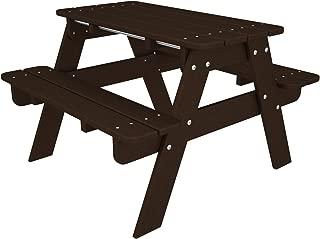 POLYWOOD KT130MA Kids Picnic Table, Mahogany