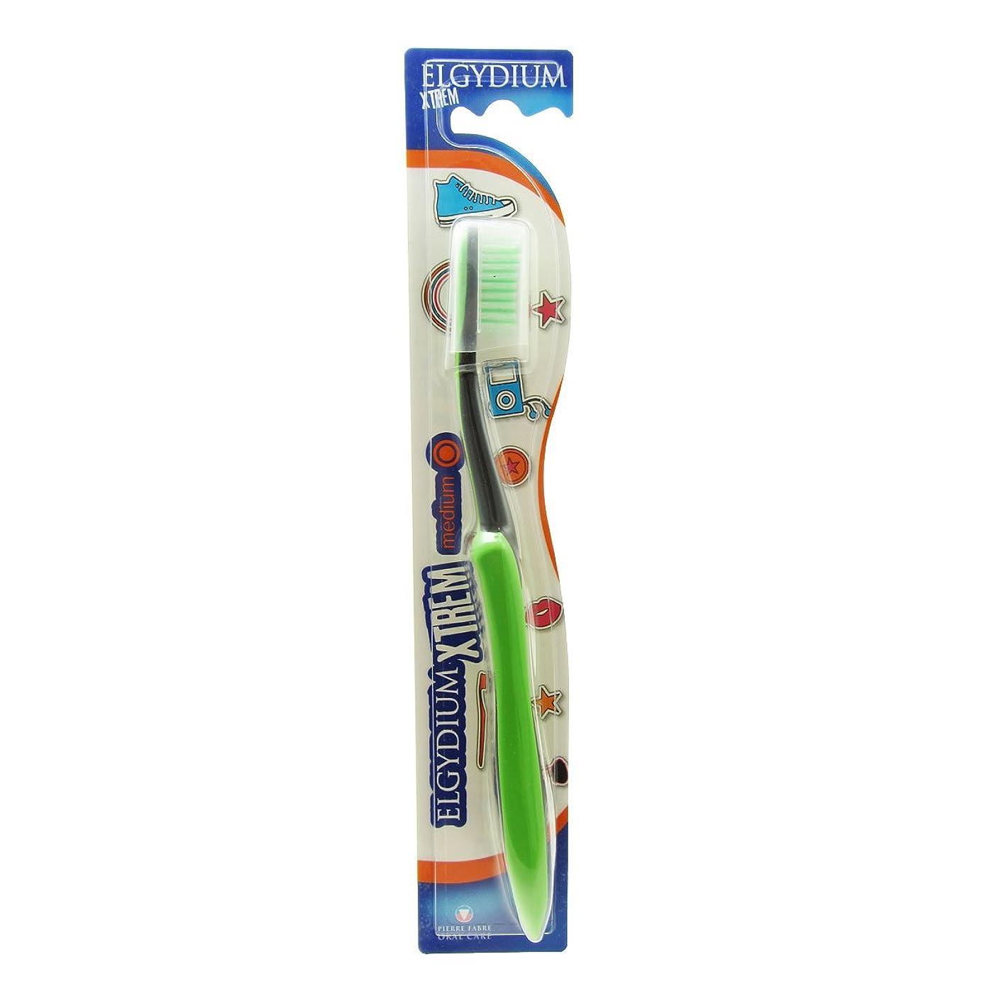 区回るみなさんElgydium Xtrem Toothbrush Medium Hardness [並行輸入品]