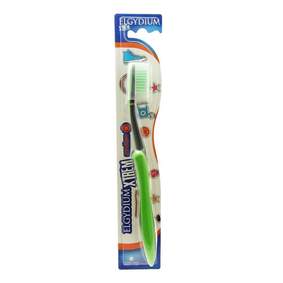 雪だるまを作る成熟請求可能Elgydium Xtrem Toothbrush Medium Hardness [並行輸入品]