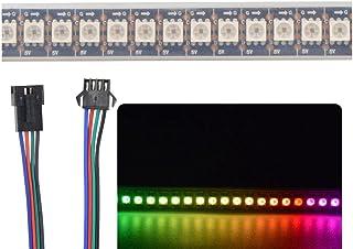 1m APA102 Smart LED Pixel Strip 144 LED/Pixels/m étanche IP67 DC5V APA102C 5050 RGB LED Strip Light (Noir PCB)