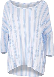 Bird Keepers Womens Tees The Casual Comfort Top Bluestripe - Tops