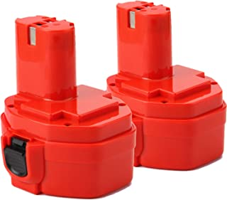 Creabest New 2Packs 3.5Ah Ni-MH 14.4V Battery Compatible with Makita 1434 1420 1422 1433 PA14 1435 1435F 192600-1 193985-8 192699 193157-5 193158-3 1051D 4033D 8433D 6228D
