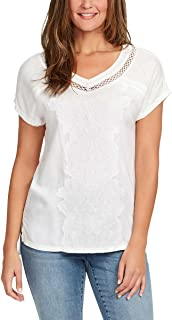 Ladies V-Neck Embroidered Cotton Top