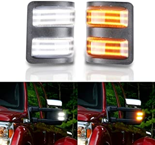 Gempro 2Pcs Switchback LED Side Mirror Marker Turn Signal Light For 2008-2016 Ford F250 F350 F450 F550 Super Duty, Replace...