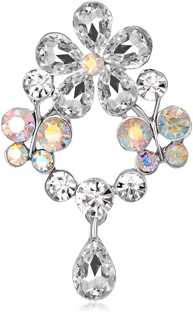 Flower Brooches for Women Elegant Pin wholesale Broach Fash Year-end annual account Crystal Brooch