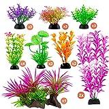 CousDUoBe 20 unidades de decoraciones para acuario, juego de rocas, 8, colores brillantes, combinación perfecta