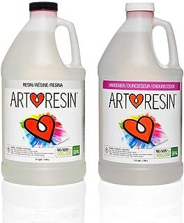 ArtResin - Epoxy Resin - Clear - Non-Toxic - 1 gal (0.5 gal Resin + 0.5 Hardener) (3.78 L)