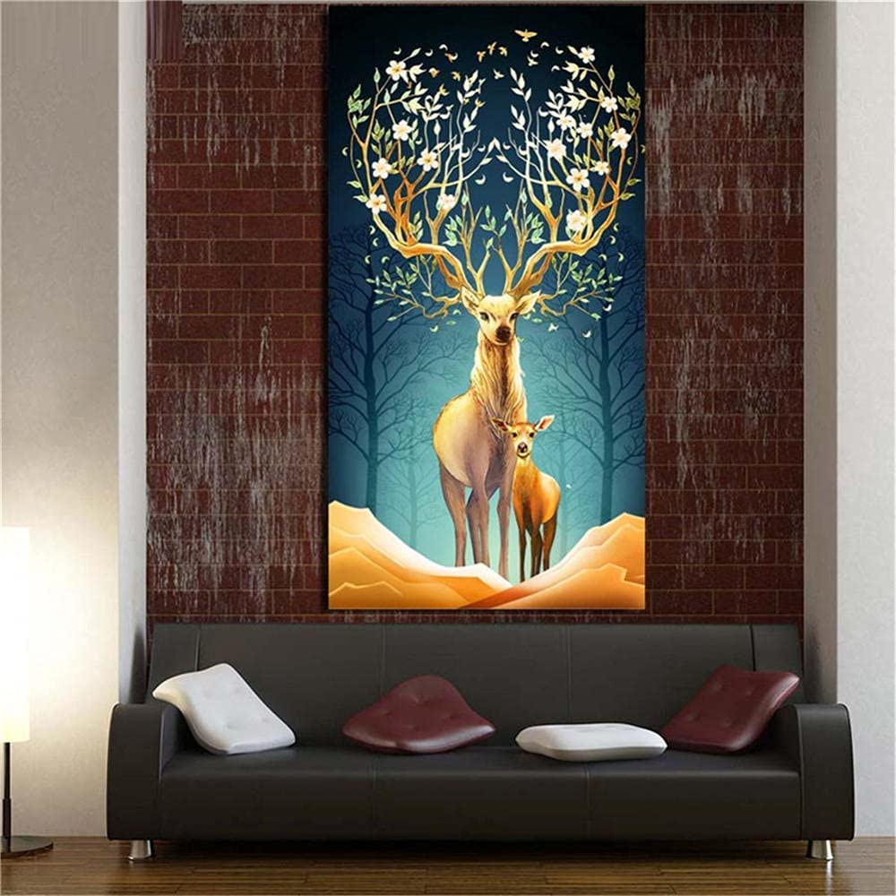 5D DIY Diamond Painting Kits Large Jacksonville Mall Size by Elk Numbers Animal Detroit Mall Di