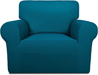 Best PureFit Super Stretch Chair Sofa Slipcover – Spandex Non Slip Soft Couch Sofa Cover, Washable Furniture Protector with Non Skid Foam and Elastic Bottom for Kids, Pets (Chair,Peacock Blue) Review
