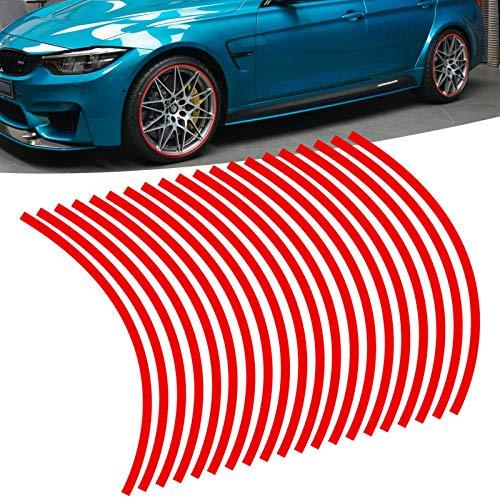 Xotic Tech 20x Red Reflective Wheel Hub Rim Stripe Tape Decal Stickers Universal...