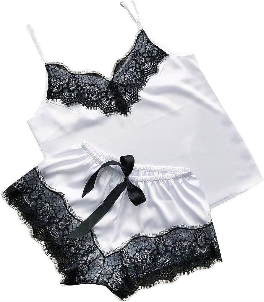 Summer Pajamas for Women Lingerie Lace Chemise Sleepwear Babydoll Teddy Lingerie