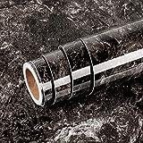 Livelynine Papel Marmol Adhesivo Muebles 40CMX1000CM Vinilos Para Mesas Decorativos Vinilo Encimera Cocina Granito Laminada Rollos Adhesivos Para Azulejos de Cocina Papel Pintado Cocina Autoadhesivo
