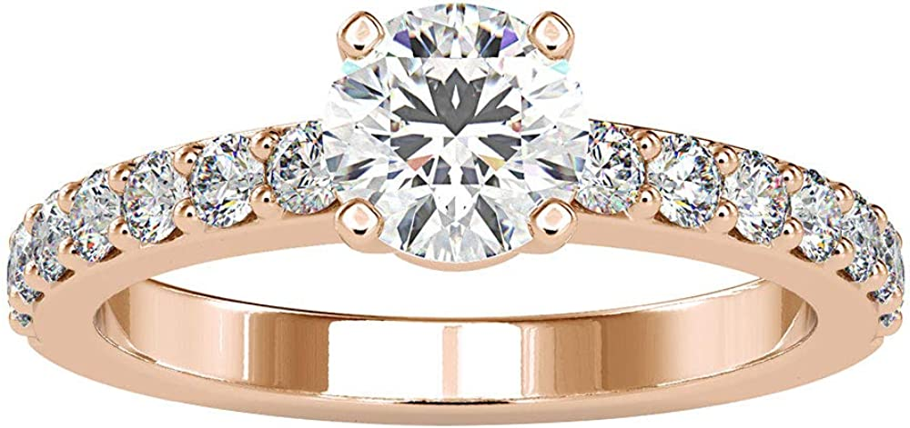 1.19Ct Certified Moissanite Solitaire Unique Ring Bride Fashionable Columbus Mall Wedding