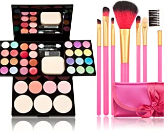 Makeup Brushes Cosmetic Palette Set TimeSong Professional Makeup Palette Kit (Include: Eyeshadow & Blusher & Face Powder &...