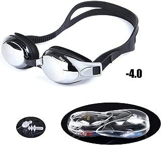 Sports Vision World Occhialini Nuoto Power Deluxe Diverse Graduazioni Nero per Adultoo Sinistro//Destro