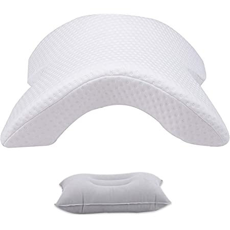 FUCHU Memory Foam Office Nap Sleeping Pillow Arched Hollow Out Neck Support Cushion