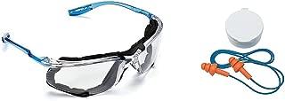 3M Virtua CCS Protective Eyewear 11872-00000-20, Foam Gasket, Anti Fog Lens, Clear (Bundle (Glasses+Earplugs), Clear)