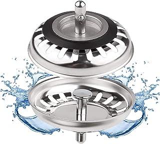 Filtre évier Cuisine, Bouchon d evier, Couvercle de filtre évier cuisine, Filtre à évier en acier inoxydable, Bouchon evie...