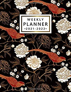 2021-2022 Weekly Planner: Beautiful Floral Two Year Calendar, Agenda, Diary | 2021-2022 Weekly Planner, Organizer with Vis...