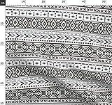 Indigen, Aztekisch, Ethno, Modern Geometrisch, Pfeil Stoffe