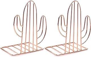 Gaosheng Serre-livres antidérapants en métal en forme de cactus