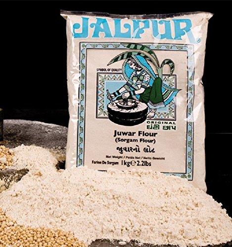 Harina gruesa de sorgo   Juwar   molida a la piedra   1 kg