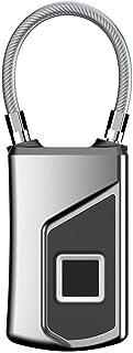 Wolf-Guard Fingerprint Bike Lock,Bag Lock Padlock ,Smart Security Lock with USB Charge, IP66 Waterproof Keyless Smart Lugg...