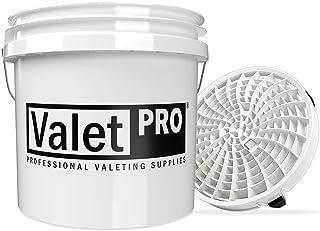 detailmate Autowasset: ValetPRO Wash Bucket 3,5 gallons (ca. 13 l) wit met detail Guardz Dirt Lock wasemmer insert wit voo...