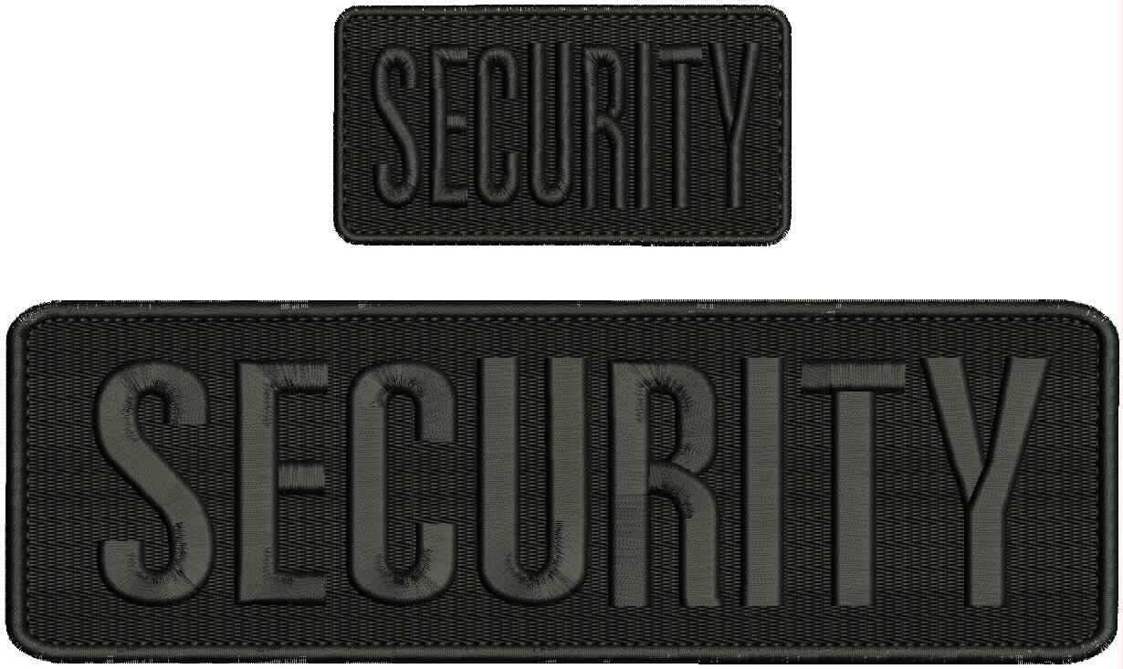 Security Embroidery Patch 3x10 and All 2x4 Fashionable Hook 55% OFF Black