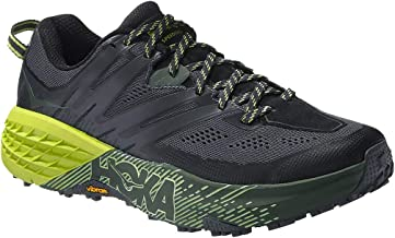 Hoka One One Men's Speedgoat 3 Running Shoe, Ebony/Black