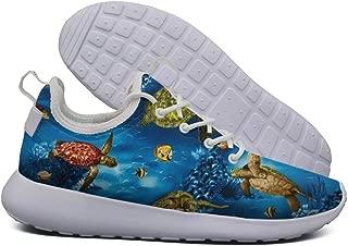 LOKIJM Island Sea Turtles Ocean Tennis Shoes for Women Athletic Non-Slip Comfortable Walking Shoes