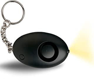 Personal Attack Alarm with TORCH - Defender Cooper POLICE APPROVED 130dBs Panic Alarm in Black