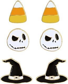 Women's Nightmare Before Christmas Stud Earrings Set of 3