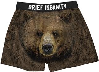 Brief Insanity Boxer Shorts Commando Underwear Bear Cheeks Logo