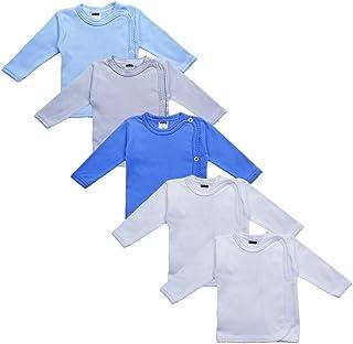 MEA BABY Unisex Baby Wickelshirt, 100% Baumwolle