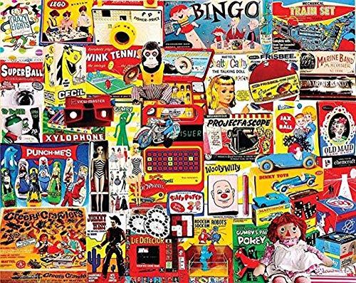 znwrr Rompecabezas de 1000 Piezas, Juegos de Bingo para Adultos, Rompecabezas de Alta dificultad, Juegos educativos, Juguetes, 38x26 cm