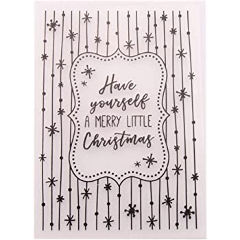 KWELLAM Merry Christmas Star Plastic Embossing Folders for Card Making Scrapbooking and Other Paper Crafts