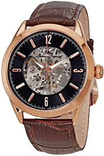 Lucien Piccard Black Skeleton Dial Men's Watch LP-10660A-RG-01-BRW-W