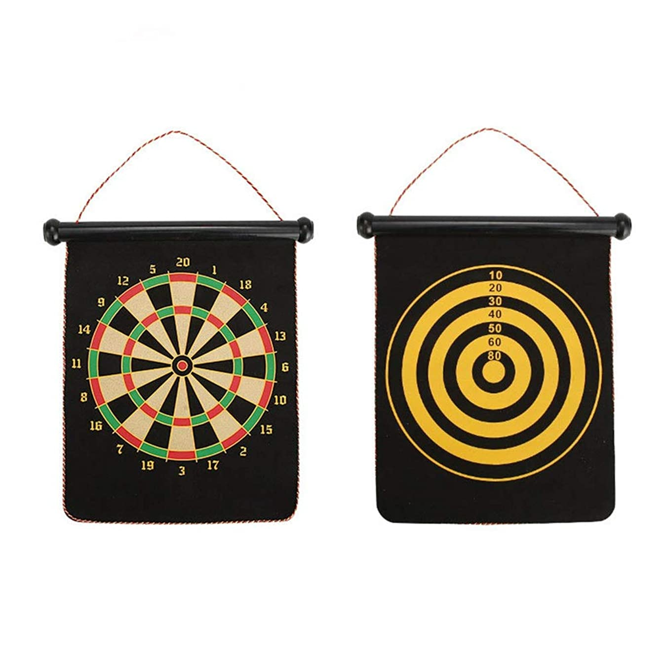 Sdcvopl Dartboard Magnetic Dartboard Sets 4 Reversible Darts Rolling Two Sided Bullseye Game Magnetic Safety Dart Board Kids Family Leisure Sports (Color, Size : One Size)