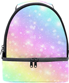 Mydaily Kids Lunch Box Colorful Galaxy Fantasy Reusable Insulated School Lunch Tote Bag
