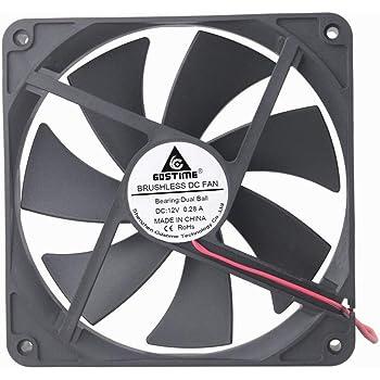 GDSTIME 120mm x 120mm x 25mm 12V DC Hydraulic Bearing DC Brushless Cooling Fan