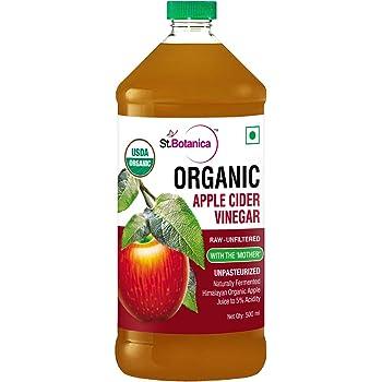 StBotanica Usda Organic Apple Cider Vinegar - Raw, Unfiltered With Mother Vinegar - 500Ml